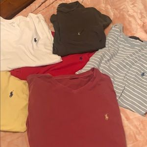 Lot of men's large/extra large polo tees
